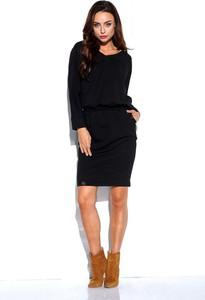 Czarna sukienka Lemoniade ołówkowa z dresówki