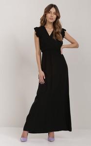 Czarna sukienka Renee maxi z dekoltem w kształcie litery v