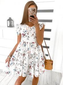 Sukienka Pakuten mini z krótkim rękawem