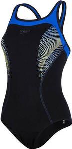 Czarny strój kąpielowy Speedo w sportowym stylu