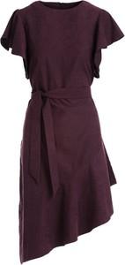 Czerwona sukienka Multu z krótkim rękawem mini