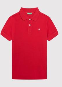 Czerwona koszulka dziecięca United Colors Of Benetton dla chłopców