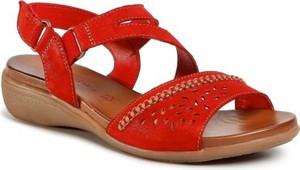 Czerwone sandały Go Soft