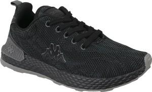 Czarne buty sportowe Kappa w sportowym stylu sznurowane
