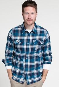 Niebieska koszula Mountain Warehouse w stylu casual z bawełny z długim rękawem