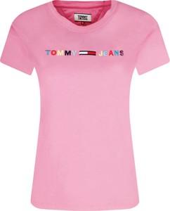 T-shirt Tommy Jeans z krótkim rękawem w stylu casual z okrągłym dekoltem