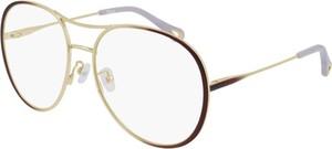 Fioletowe okulary damskie Chloe