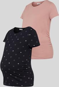YESSICA C&A Ciążowy T-shirt-2 szt., Niebieski, Rozmiar: XS