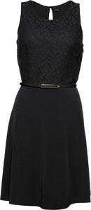 Czarna sukienka bonprix BODYFLIRT z dżerseju midi bez rękawów