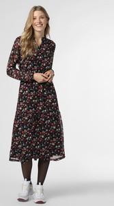 Sukienka comma, z długim rękawem z szyfonu
