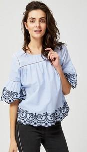 Błękitna bluzka Moodo z bawełny