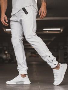 Spodnie Ozonee z bawełny w stylu casual