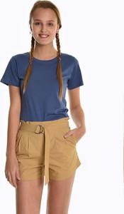 T-shirt Gate z krótkim rękawem z bawełny w stylu casual