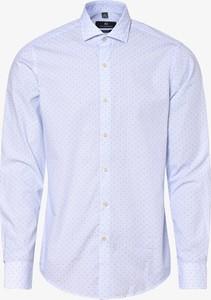Niebieska koszula Nils Sundström z długim rękawem