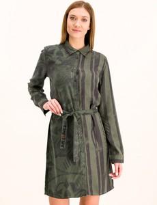 Sukienka Desigual koszulowa z długim rękawem mini