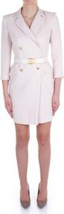 Sukienka Elisabetta Franchi z dekoltem w kształcie litery v z długim rękawem