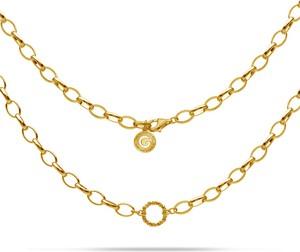GIORRE SREBRNY NASZYJNIK CHOKER KARMA 925 : Kolor pokrycia srebra - Pokrycie Żółtym 24K Złotem