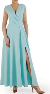 Sukienka POLSKA z dekoltem w kształcie litery v maxi