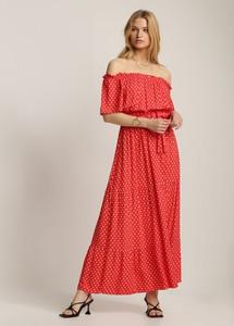 Czerwona sukienka Renee maxi