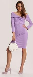 Fioletowa sukienka Renee dopasowana w stylu casual