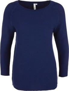 Niebieski sweter Q/s Designed By - S.oliver w stylu casual z bawełny