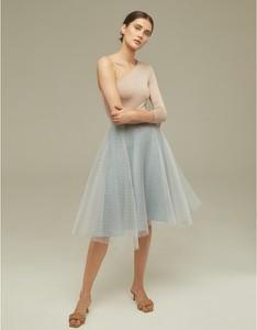 Niebieska spódnica Klaudyna Cerklewicz z tiulu