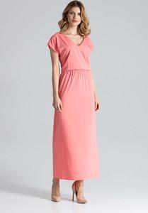 Sukienka Figl z krótkim rękawem z dekoltem w kształcie litery v w stylu casual