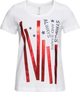 T-shirt bonprix RAINBOW z okrągłym dekoltem w młodzieżowym stylu