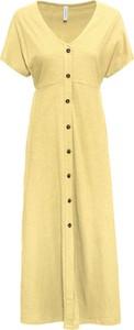 Sukienka bonprix RAINBOW z dekoltem w kształcie litery v z krótkim rękawem maxi
