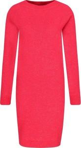Czerwona sukienka Mytwin Twinset w stylu casual z okrągłym dekoltem