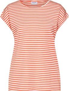 Bluzka Vero Moda z okrągłym dekoltem w stylu casual z krótkim rękawem