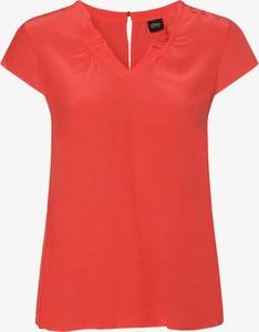Czerwona bluzka S.Oliver Black Label z krótkim rękawem