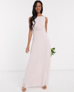 Sukienka Maids To Measure bez rękawów z szyfonu maxi