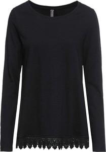 Czarna bluzka bonprix RAINBOW z długim rękawem