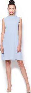 Niebieska sukienka Figl bez rękawów midi