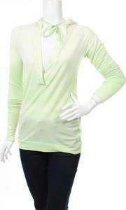 Zielona bluzka Cassidi Boutique z długim rękawem w stylu casual