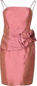 Sukienka Fokus z długim rękawem z okrągłym dekoltem dopasowana