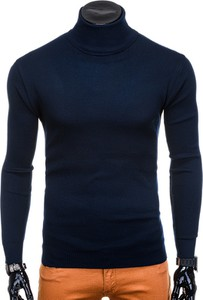 Granatowy sweter Edoti w stylu casual