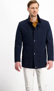 Granatowa kurtka Lavard z bawełny