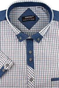 Koszula Koneser z krótkim rękawem z tkaniny
