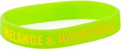 Opaska na rękę Melanżowe Akcesoria Tekstylne Melange&Basketball Green / Yellow