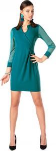 Sukienka MERRIBEL z długim rękawem dopasowana