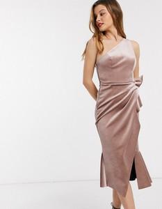 Złota sukienka Asos Design midi