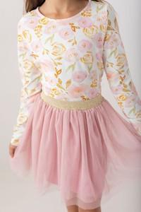 Bluzka dziecięca Myprincess / Lily Grey w kwiatki z bawełny