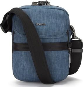 Niebieska torebka Pacsafe na ramię