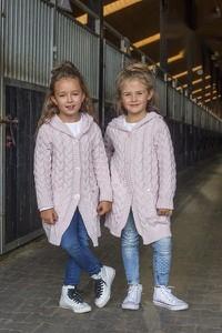 Różowy sweter Kids By Voga