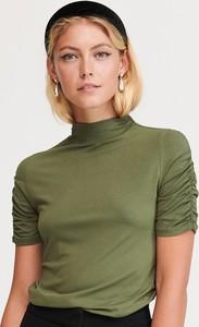 Bluzka Reserved z golfem w stylu casual