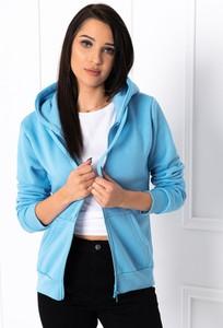 Niebieska bluza Edoti krótka w młodzieżowym stylu