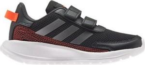 Czarne buty sportowe dziecięce Adidas ze skóry dla chłopców na rzepy