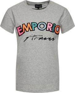 T-shirt Emporio Armani z krótkim rękawem z okrągłym dekoltem w młodzieżowym stylu